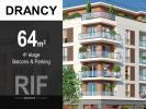 T3 de 64 m² avec balcons et parking sous-sol