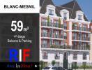 T3 de 59 m² avec balcons et parking