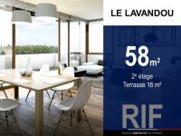 T3 de 58 m² avec une terrasse de 16 m²