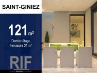 Duplex T5 de 121 m² avec terrasses