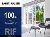Villa T4 de 100 m² avec jardin et terrasses