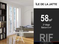 T2 de 58 m² avec balcon de 5 m²