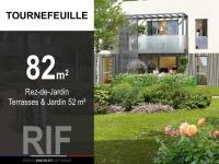 T4 de 82 m² avec terrasses et jardin