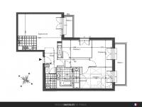 T4 de 79 m² avec balcons
