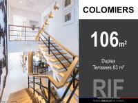 T5 duplex de 106 m² avec terrasses