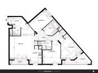 T4 de 81 m² avec loggias de 7 m²