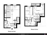 T3 de 59 m² avec balcon et parking