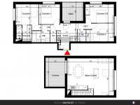 Appartement T5 de 104 m² avec terrasse et loggia