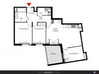 Appartement T4 de 73 m² avec terrasse