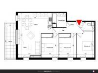T4 de 78 m² avec balcon