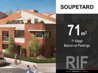 T4 de 71 m² avec balcon et parkings