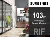 T5 de 103 m² avec terrasse et parkings
