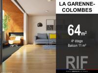 T3 de 64 m² avec balcon de 11 m²