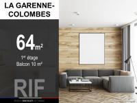 T3 de 64 m² avec balcon de 10 m²