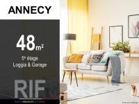 Appartement T2 de 48 m² avec loggia et garage