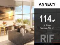 Appartement T4 de 114 m² avec terrasse 197 m²