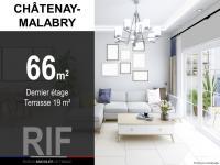 T3 de 66 m² avec une terrasse de 19 m²