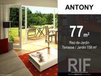 T4 de 77 m² avec terrasse et jardin 158 m²