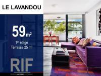 T3 de 59 m² avec une terrasse de 25 m²