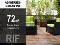 T3 de 72 m² avec terrasse de 54 m²