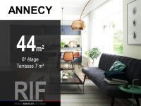 Appartement T2 de 44 m² avec terrasse de 7 m²