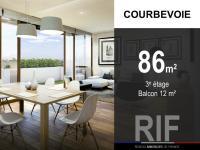 T4 de 86 m² avec balcon de 12 m²