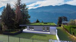Appart neuf de type 4 de 98 m² avec une terrasse de 44,58 m² à l\'ouest à Brison st Innocent
