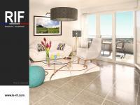 T2 de 40 m² avec terrasse et parkings